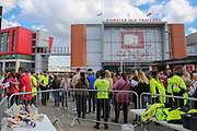 Fans are searched by security staff before the One Love Manchester Concert at the Emirates Old Trafford Cricket Ground, Manchester, United Kingdom on 4 June 2017. Photo by Phil Duncan.