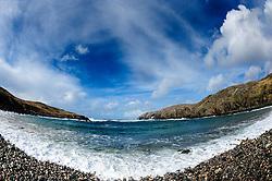 Atlantic waves pound the pebble beach at Gearrannan, Isle of Lewis, Outer Hebrides, Scotland<br /> <br /> (c) Andrew Wilson   Edinburgh Elite media