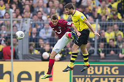 19.10.2013, Signal Iduna Park, Dortmund, GER, 1. FBL, Borussia Dortmund vs Hannover 96, 9. Runde, im Bild Zweikampf zwischen Artur Sobiech (#9 Hannover), Sokratis (#25 Dortmund)  // during the German Bundesliga 9th round match between Borussia Dortmund and Hannover 96 Signal Iduna Park in Dortmund, Germany on 2013/10/19. EXPA Pictures &copy; 2013, PhotoCredit: EXPA/ Eibner-Pressefoto/ Kurth<br /> <br /> *****ATTENTION - OUT of GER*****