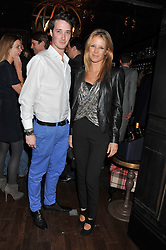 JACK BOONE and sister TILLY WOOD at the launch of the Johnnie Walker Blue Label Club held at The Scotch, Mason's Yard, London on 1st May 2012.