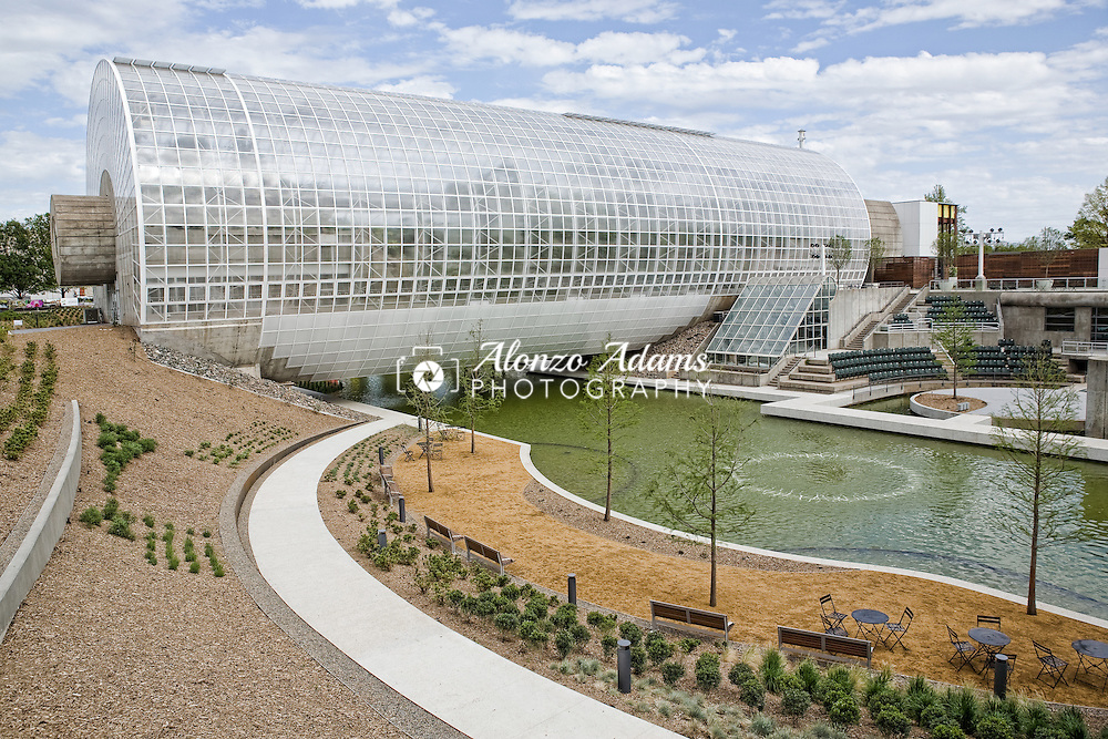 A view of the Myriad Botanical Gardens and Crystal Bridge Tropical Conservatory in downtown Oklahoma City, Okla. on Monday, May 2, 2011.  (Photo by Alonzo J. Adams)