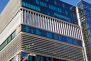 This building 180 Thomas Street, Haymarket, Sydney was designed by architects Bates Smart. Its quite unique because of its sustainable features such as high efficency lighting, chilled beam cooling and high performance glazing.