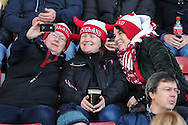 England Women fans take a selfie before the Women's RBS 6 Nations match between England Women and Italy Women at Twickenham Stoop , London<br /> Picture by David Horn/Focus Images Ltd +44 7545 970036<br /> 15/02/2015