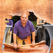 NLD/Rotterdam/20150626 - Paul de Leeuw opent nieuwe leeuwenverblijf Diergaarde Blijdorp, Paul de Leeuw maakt zijn entree in het nieuwe verblijf