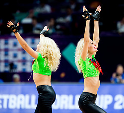 Cheerleaders Red Foxes perform during basketball match between National Teams of Lithuania and Greece at Day 10 in Round of 16 of the FIBA EuroBasket 2017 at Sinan Erdem Dome in Istanbul, Turkey on September 9, 2017. Photo by Vid Ponikvar / Sportida