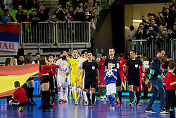 Ballboy during futsal match between Portugal and Spain in Final match of UEFA Futsal EURO 2018, on February 10, 2018 in Arena Stozice, Ljubljana, Slovenia. Photo by Urban Urbanc / Sportida
