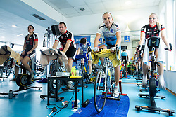 Marko Baloh, Slovenian ultramarathon rider during his charity event of 24 hours of spinning for food for Organisation Anina zvezdica, on January 24, 2015 in SC Millenium, BTC, Ljubljana, Slovenia. Photo by Vid Ponikvar / Sportida