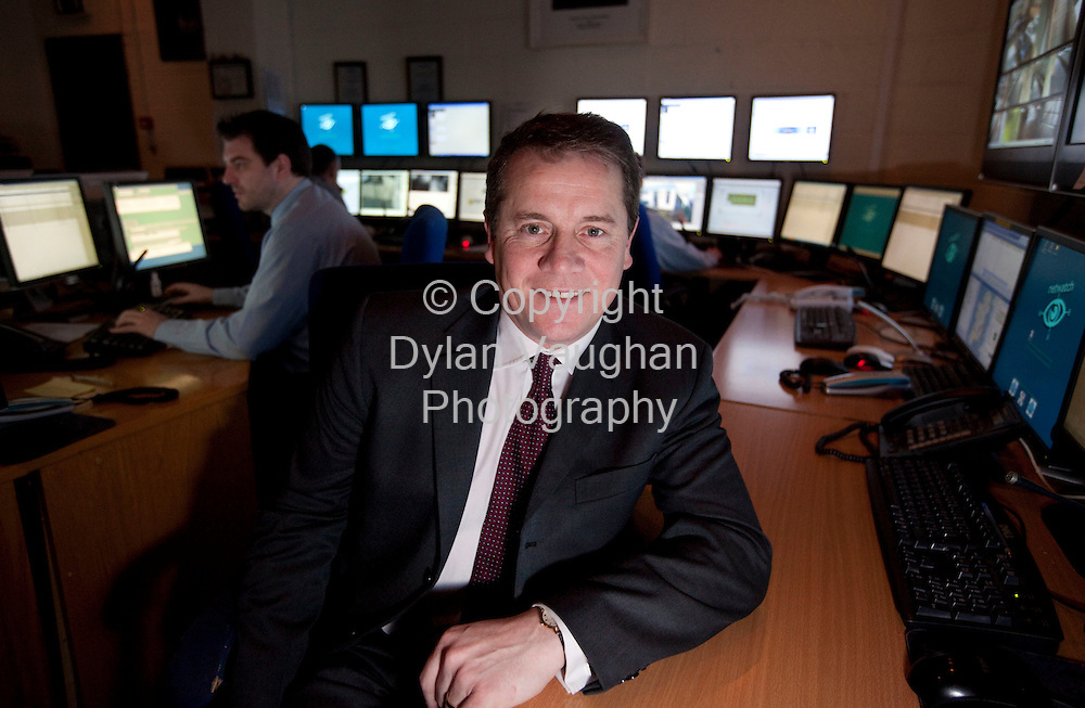 15/1/2009.David Walsh the chief executive of Netwatch pictured at the companies monitoring centre in Carlow..Picture Dylan Vaughan.