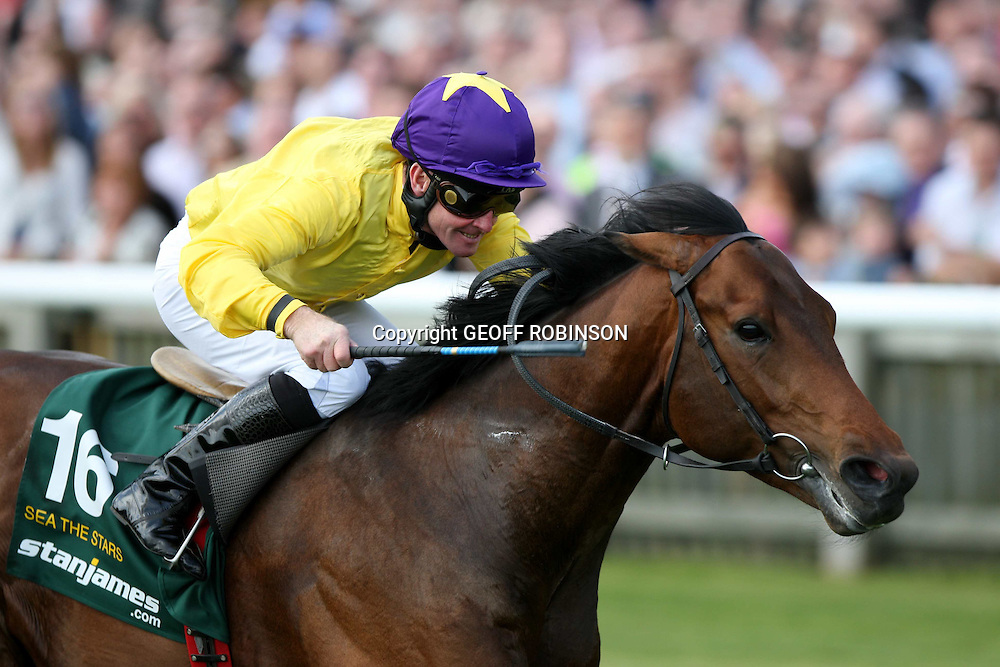"MICK KINANE ON SEA THE STARS    WINNING  THE 2000 GUINEAS AT NEWMARKET ON SATURDAY MAY 2ND 2009...Veteran jockey Mick Kinane, 50, has announced his retirement, ending a 34-year career in the saddle...He bows out on a high after a stunning 2009 saw him partner wonder horse Sea The Stars to six Group One wins. ..His success with the John Oxx-trained colt included an unprecedented 2,000 Guineas-Derby-Arc treble. ..Kinane said: ""I feel fit and sharp enough to do any horse justice but I have the privilege of being able to end my career on an incredible high."" .. Born in County Tipperary, Ireland, the son of a leading National Hunt jockey, Kinane won the 2,000 Guineas four times, the Epsom Derby three times, the Oaks twice and the St Leger once. ..He also picked up 11 Irish Classic winners, and the Prix de l'Arc de Triomphe five times."