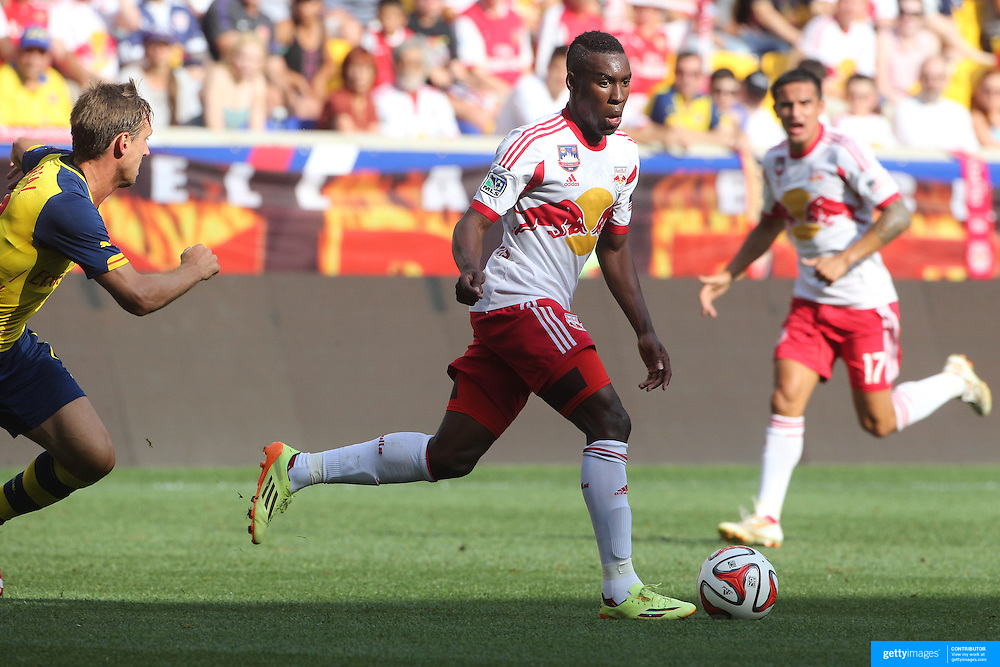 Lloyd Sam, New York Red Bulls, in action during the New York Red Bulls Vs Arsenal FC,  friendly football match for the New York Cup at Red Bull Arena, Harrison, New Jersey. USA. 26h July 2014. Photo Tim Clayton
