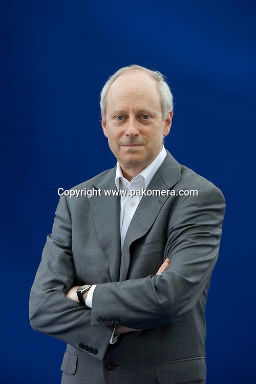 A portrait of Michael Sandel in the Edinburgh International Book Festival  2012 is sited in Charlotte Square Gardens. <br /> <br /> Pic by Pako Mera