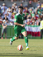 Fotball<br /> Asia Cup / Asiamesterskapet<br /> 23.01.2015<br /> Iran v Irak<br /> Kvartfinale<br /> Foto: imago/Digitalsport<br /> NORWAY ONLY<br /> <br /> Yaser Kasim (5) of Iraq in the FIFA Asian Football Confederation 2015 Asian Cup quarter-final game played in Canberra Stadium, Canberra, Australia