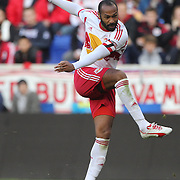 Thierry Henry. New York Red Bulls, shoot during the New York Red Bulls Vs New England Revolution, MLS Eastern Conference Final, first leg at Red Bull Arena, Harrison, New Jersey. USA. 23rd November 2014. Photo Tim Clayton