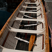Pilot Gig, single oar rowing boat at the Gloucester Maritime Heritage Center.