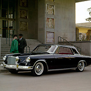 A pre-production 1962 Studebaker Gran Turismo Hawk is shown in this factory publicity image.  Production models had different parking lights.