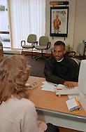 CPSA member at work Employment Service Leeds. 9/5/96