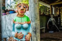 Peça de artesanato no Museu Engenho do Sertão. Bombinhas, Santa Catarina, Brasil. / <br /> Handcraft work at Engenho do Sertao Museum. Bombinhas, Santa Catarina, Brazil.