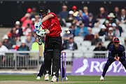 Leicestershire Foxes Colin Ackermann during the Royal London 1 Day Cup match between Lancashire County Cricket Club and Leicestershire County Cricket Club at the Emirates, Old Trafford, Manchester, United Kingdom on 28 April 2019.