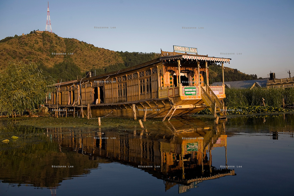 A house boat on Dal lake. Travel photographs of Srinagar, Kashmir, Jammu & Kashmir, India on 9th June 2009.  Photo by Suzanne Lee /  For The National