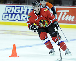 Troy Rutkowski of the Portland Winterhawks participates in Next Testing at the Home Hardware CHL Top Prospects Game in Windsor, ON on Tuesday. Photo by Aaron Bell/CHL