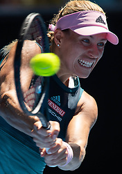 MELBOURNE, Jan. 20, 2019  Angelique Kerber of Germany is in action during women's singles 4th round match between Angelique Kerber of Germany and Danielle Collins of the United States at 2019 Australian Open in Melbourne, Australia, on Jan. 20, 2019. (Credit Image: © Elizabeth Xue Bai/Xinhua via ZUMA Wire)