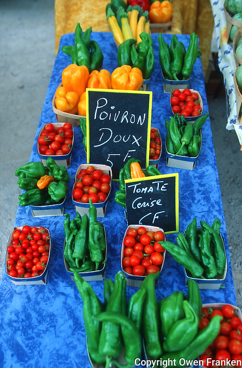 Vegetables in a Farmers' Market - Provence, France