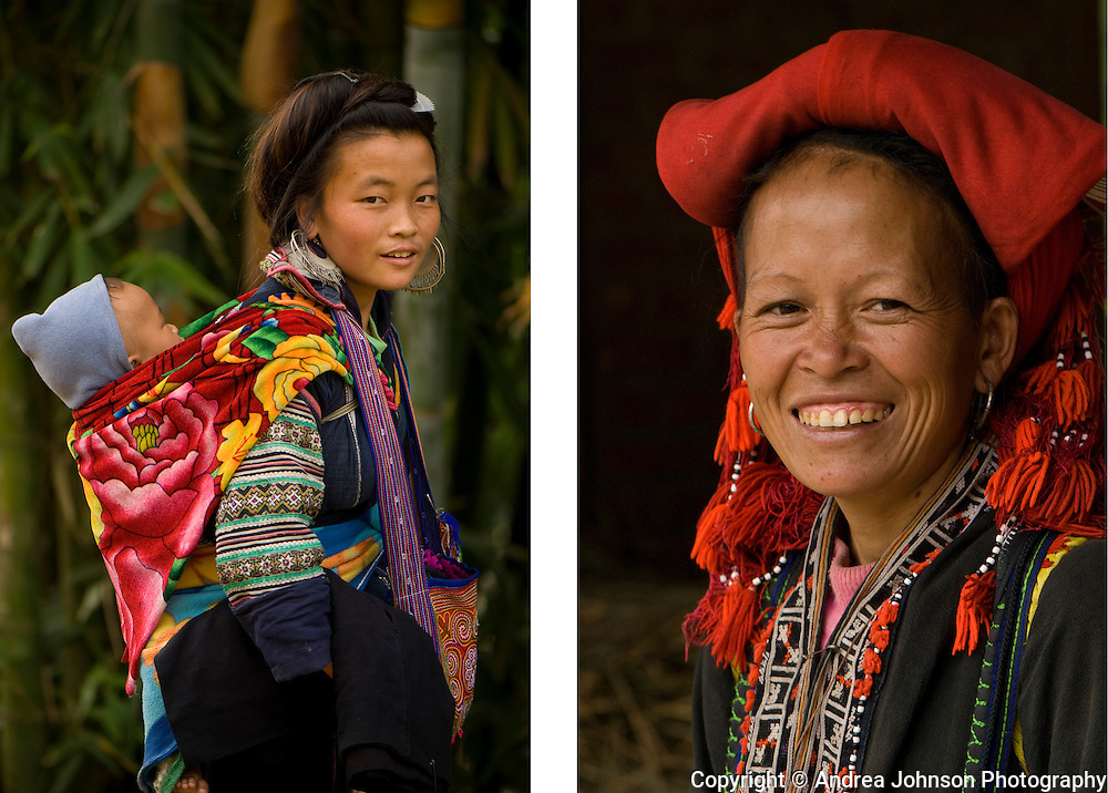 Tribal women in traditional clothing, Sapa, Vietnam