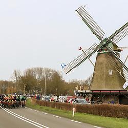 29-02-2020: Wielrennen: Ster van Zwolle: Zwolle<br />Op Nationale Molendag passeerd het peloton de molen net buiten Zwolle