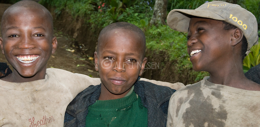 Young boys from Ngiresi Village outside Arusha, Tanzania.