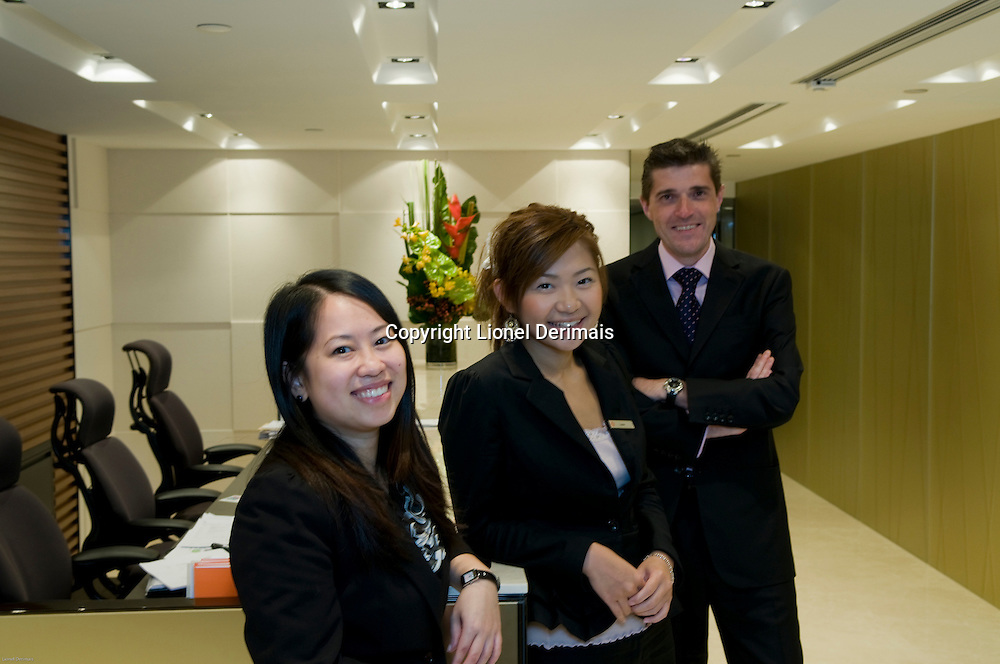 Alastair Gledhill, Compass Offices Group Sales Director photographed in Hong Kong in Compass Central offices.