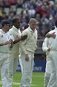 31/05/2002.Sport -Cricket - 2nd NPower Test -Second Day.England vs Sri Lanka. Centre: Freddie FLINTOFF [Mandatory Credit Peter Spurrier:Intersport Images]