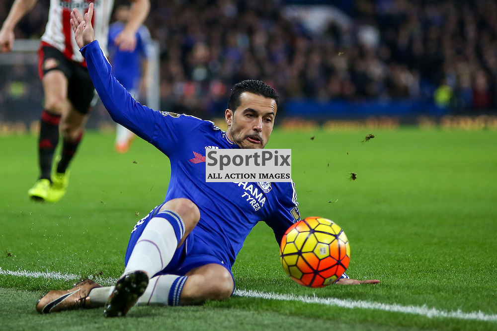 Pedro During Chelsea vs Sunderland on Saturday the 19th December 2015.