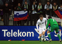 Valter Birsa (10) at the fourth round qualification game of 2010 FIFA WORLD CUP SOUTH AFRICA in Group 3 between Slovenia and Northern Ireland at Stadion Ljudski vrt, on October 11, 2008, in Maribor, Slovenia.  (Photo by Vid Ponikvar / Sportal Images)