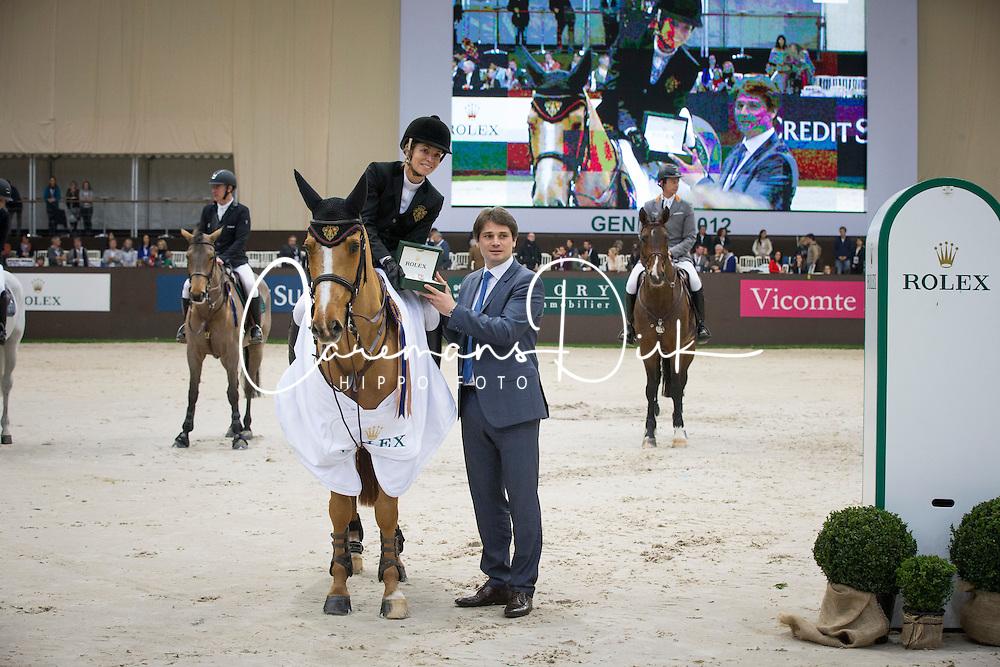 Alexander Edwina (AUS) - Itot du Chateau<br /> Winner of the Rolex FEI World Cup qualifier<br /> CSI-W Geneve 2012<br /> &copy; Dirk Caremans