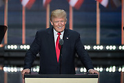 GOP Presidential candidate Donald Trump smiles as he accepts the party nomination for president on the final day of the Republican National Convention July 21, 2016 in Cleveland, Ohio.