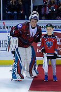KELOWNA, CANADA - MARCH 10:  Third Star of the Game James Porter #1 of the Kelowna Rockets at the Kelowna Rockets game on March 10, 2018 at Prospera Place in Kelowna, British Columbia, Canada.  (Photo By Cindy Rogers/Nyasa Photography,  *** Local Caption ***