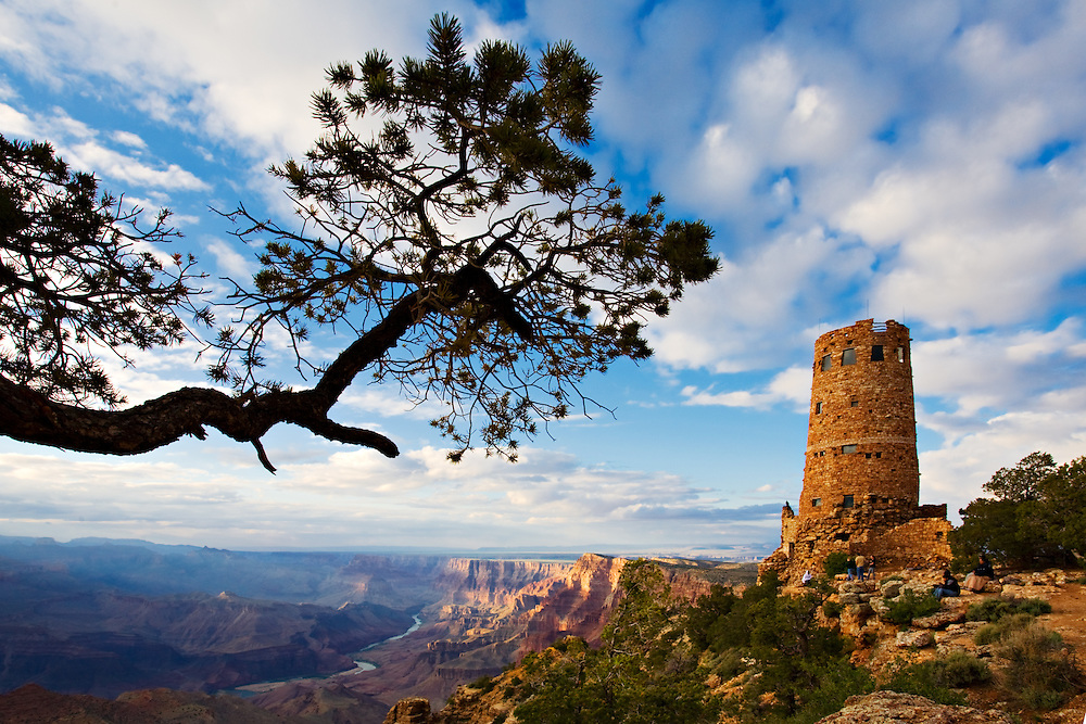 The Watchtower at Desert View. Grand Canyon National Park, Arizona.