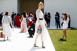 Street style, Karlie Kloss arriving at Dior Fall-Winter 2018-2019 Haute Couture show held at Musee Rodin, in Paris, France, on July 2nd, 2018. Photo by Marie-Paola Bertrand-Hillion/ABACAPRESS.COM