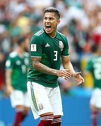 Mexico's Carlos Salcedo reacts after a missed chance