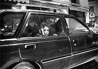 Boy in car, Mexico City