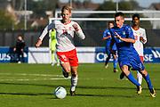 21.09.2017; Niederhasli; FUSSBALL U16 - Schweiz - Italien;<br /> Becir Omeragic (SUI) Mirco Lipari (ITA) <br /> (Andy Mueller/freshfocus)