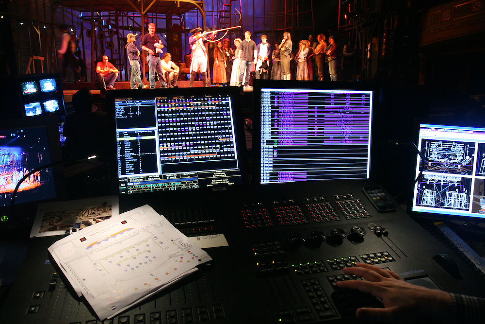 A Tale of Two Cities, Hirschfeld Theatre NYC - Tech.  Light Palette VL with WYSIWYG display.  Photo © Michael Gottlieb