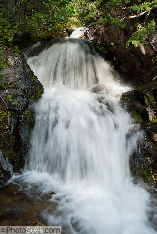 Water streams on the Pacific Crest Trail between Rainy Pass (on Highway 20) and Cutthroat Pass, Okanagon National Forest, Washington, USA.
