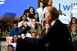 Students, voters attend a Voter Registration Rally in support of the Clinton/Kaine ticket, with Vie President Joe Biden, at Drexel University, in Philadelphia, Pennsylvania.