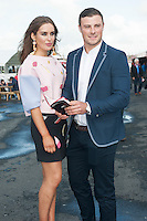 31/07/2015 Ireland's leading model, Roz Purcell, and Robbie Henshaw Connacht and Ireladn Rugby star. Roz is judging the My Fair Lady Fashion Competition.  Photo: Andrew  Downes xposure
