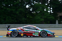 Gianmaria Bruni (ITA) / James Calado (GBR) / Alessandro Pier Guidi (ITA)  #51 AF Corse Ferrari 488 GTE,  during Le Mans 24 Hr June 2016 at Circuit de la Sarthe, Le Mans, Pays de la Loire, France. June 15 2016. World Copyright Peter Taylor/PSP. Copy of publication required for printed pictures.  Every used picture is fee-liable. http://archive.petertaylor-photographic.co.uk