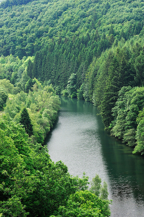 View from Esch-Sur-Sûre Dam, Ardennes, Luxembourg