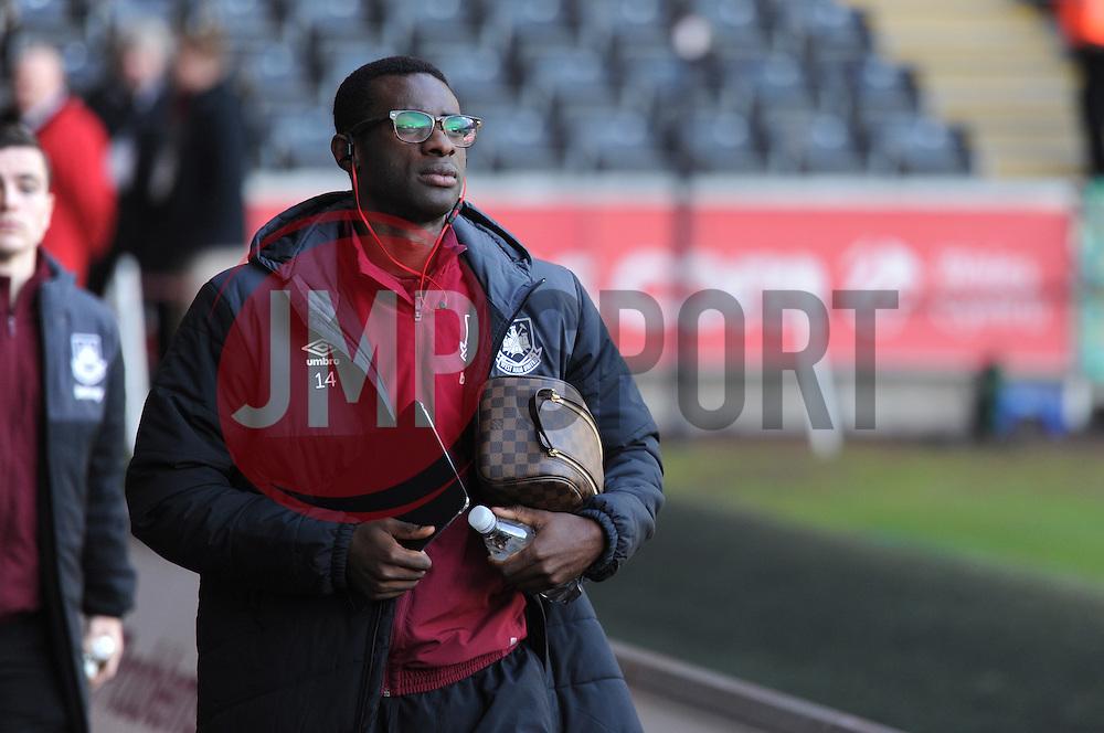 Pedro Mba Obiang of West Ham United arrives at the Liberty Stadium.  - Mandatory byline: Alex James/JMP - 07966 386802 - 20/12/2015 - FOOTBALL - Liberty Stadium - Swansea, England - Swansea City v West Ham United - Barclays Premier League