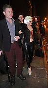 16.FEBRUARY.2013. LIVERPOOL<br /> <br /> ROXANNE PALLETT VISITS THE ALMA DE CUBA CLUB TO CELEBRATE THE CLOSING PERFORMANCE OF THE ROCKY HORROR SHOW IN LIVERPOOL. SHE WAS SEEN WEARING HER WIG AND COSTUME FROM THE SHOW<br /> <br /> BYLINE: EDBIMAGEARCHIVE.CO.UK<br /> <br /> *THIS IMAGE IS STRICTLY FOR UK NEWSPAPERS AND MAGAZINES ONLY*<br /> *FOR WORLD WIDE SALES AND WEB USE PLEASE CONTACT EDBIMAGEARCHIVE - 0208 954 5968*