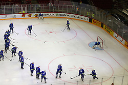 Practice of Slovenia during Ice Hockey match between National Teams of Hungary and Slovenia in Round #3 of 2018 IIHF Ice Hockey World Championship Division I Group A, on April 25, 2018 in Arena Laszla Pappa, Budapest, Hungary. Photo by David Balogh / Sportida